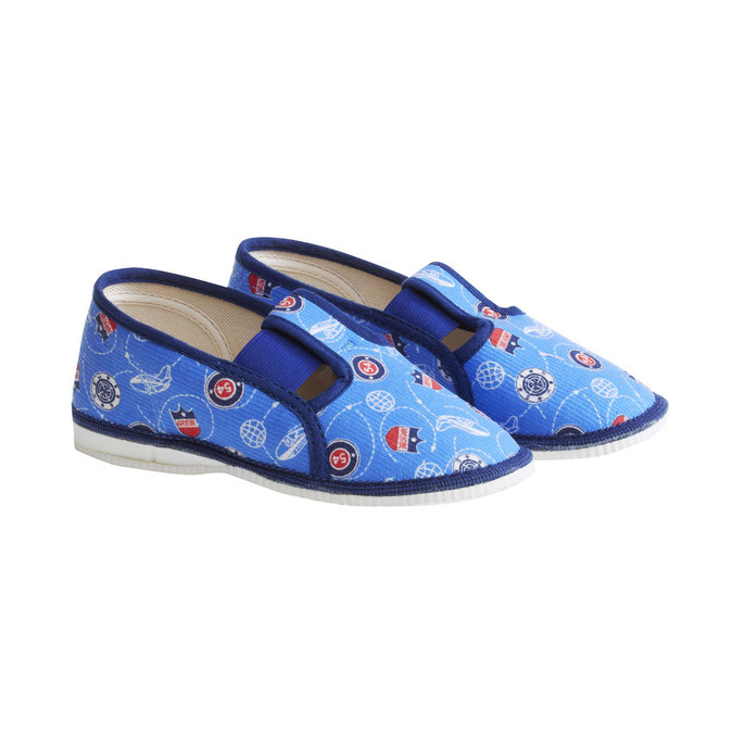 Children's slippers bata, blue , 179-0105 - 26