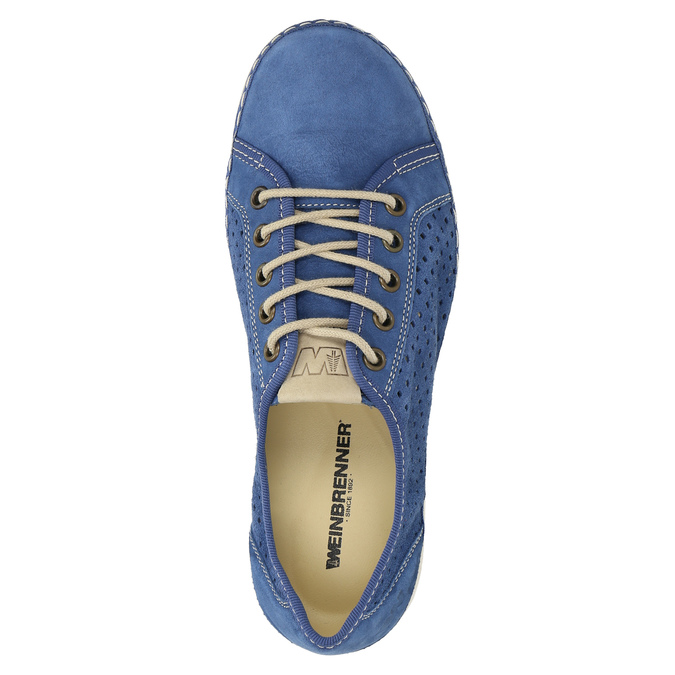 Leather sneakers weinbrenner, blue , 546-9238 - 19