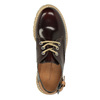 Leather shoes on a transparent sole weinbrenner, red , 598-5603 - 19