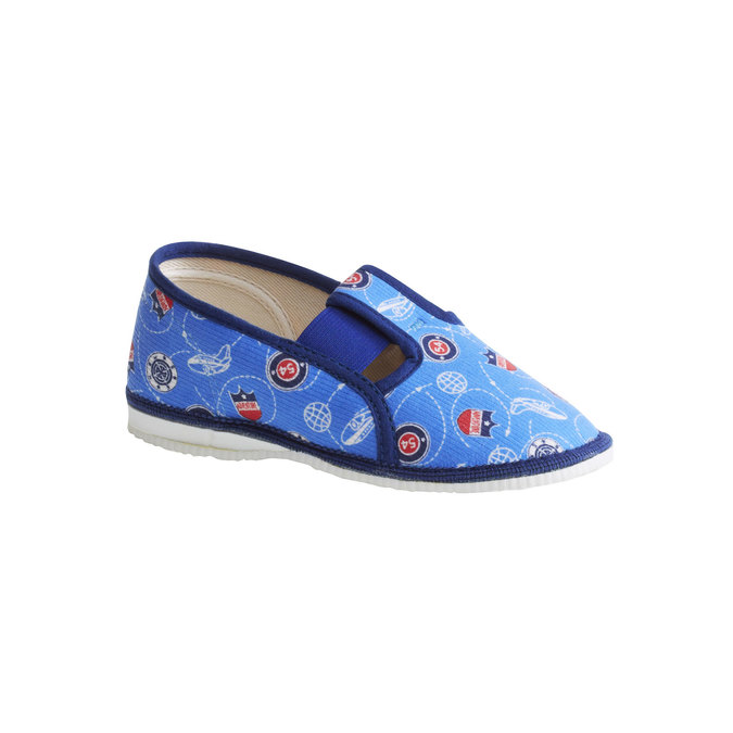Children's slippers bata, blue , 179-0105 - 13