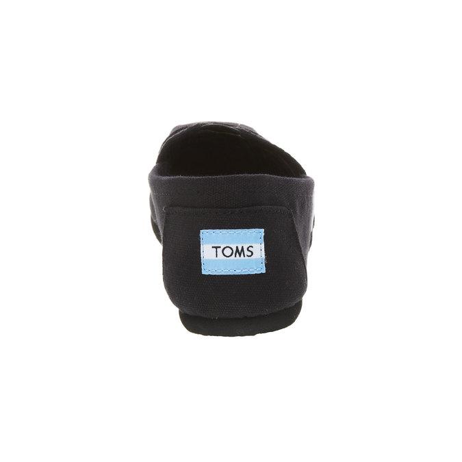 Ladies' slip-ons toms, black , 519-6004 - 17