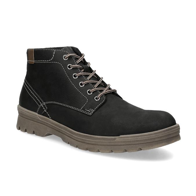 Men's leather winter boots, black , 896-6107 - 13