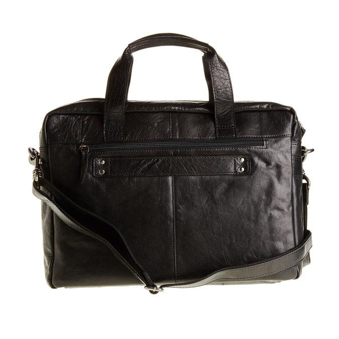 Leather bag bata, black , 964-6153 - 26