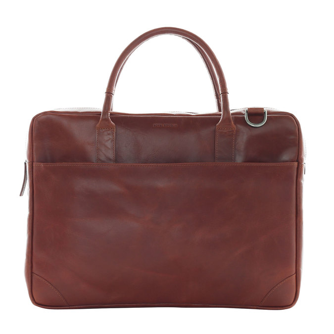 Leather bag with strap royal-republiq, brown , 964-4199 - 26