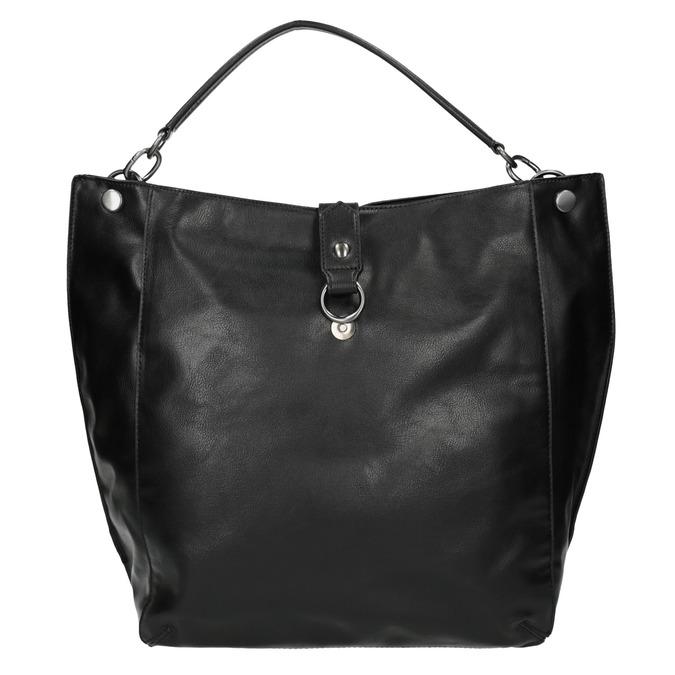 Black Hobo-style handbag bata, black , 961-6808 - 19