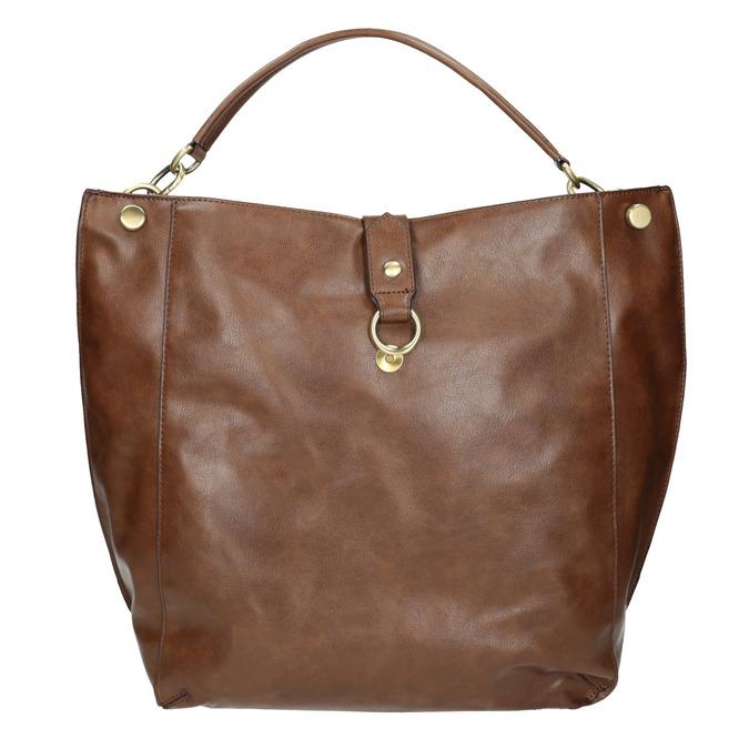 Brown Hobo-style handbag bata, brown , 961-3808 - 19
