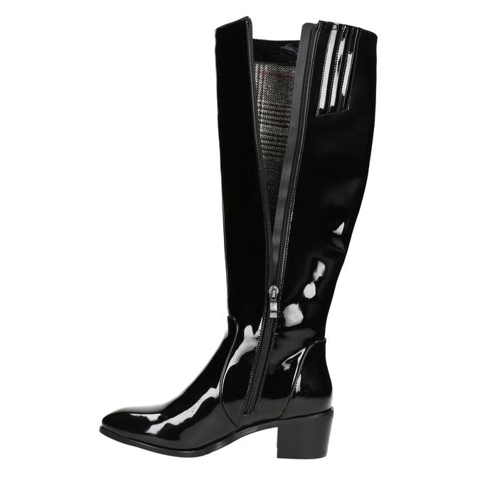 Ladies' high boots bata, black , 691-6631 - 26