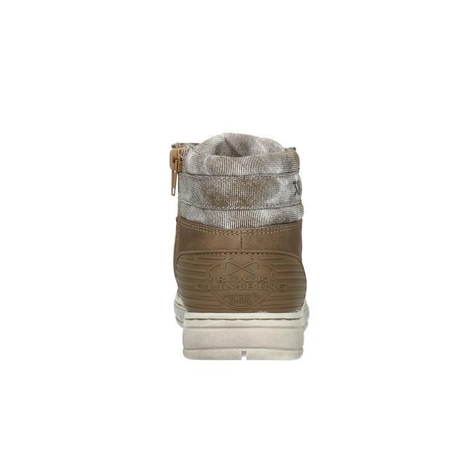 Boys´ ankle-cut sneakers mini-b, brown , 391-4600 - 17