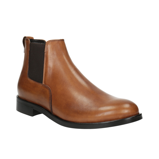Women's leather Chelsea boots bata, brown , 594-3902 - 13