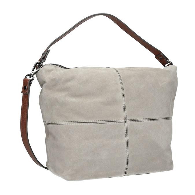 Leather Hobo-style handbag bata, gray , 963-2130 - 13