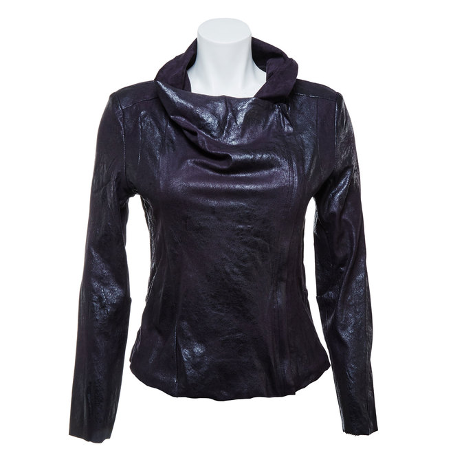 Ladies' casual jacket with collar bata, black , 979-6635 - 13