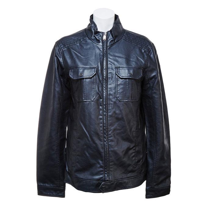 Men's jacket with breast pockets bata, black , 971-6169 - 13