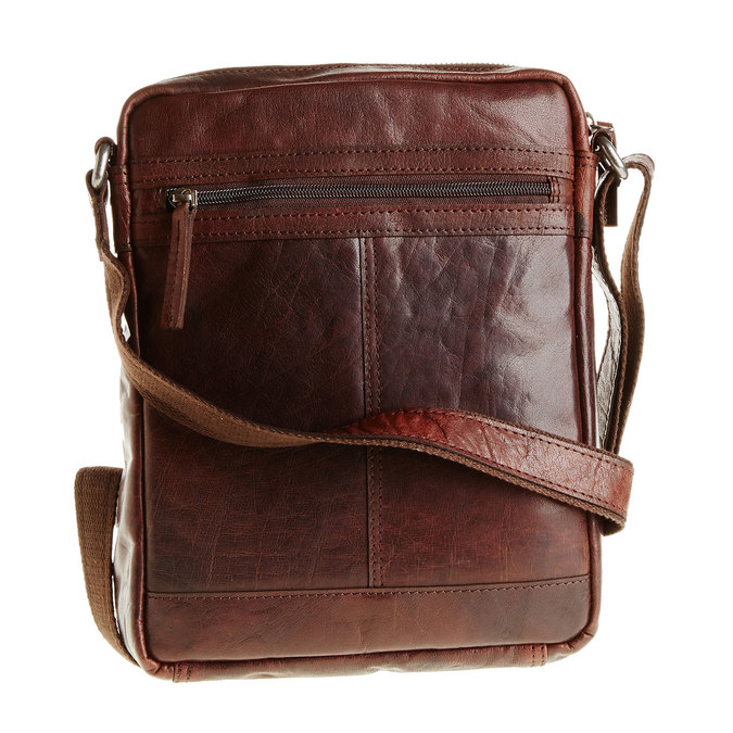 Men´s leather Crossbody bag bata, brown , 964-4180 - 26