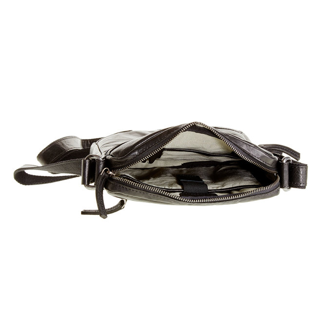 Leather Crossbody bag bata, black , 964-6180 - 15