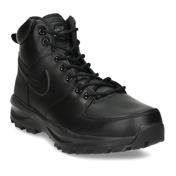 Men's leather ankle boots nike, black , 806-6435 - 13