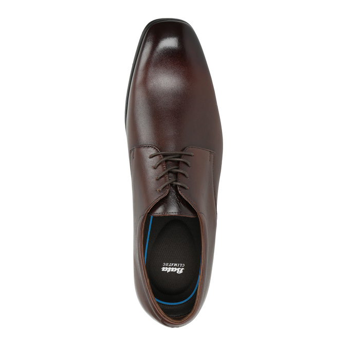 Men's leather Derby shoes bata, brown , 824-4752 - 19