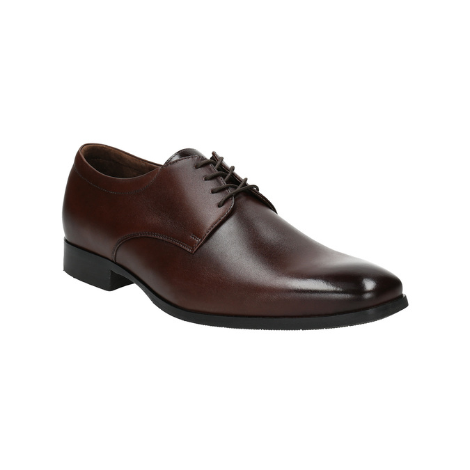 Men's leather Derby shoes bata, brown , 824-4752 - 13