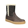 Leather winter shoes with fur weinbrenner, brown , 596-8628 - 13