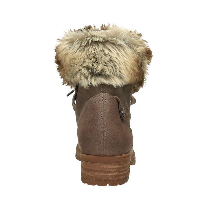 Ladies' winter boots with fur bata, brown , 591-3605 - 17