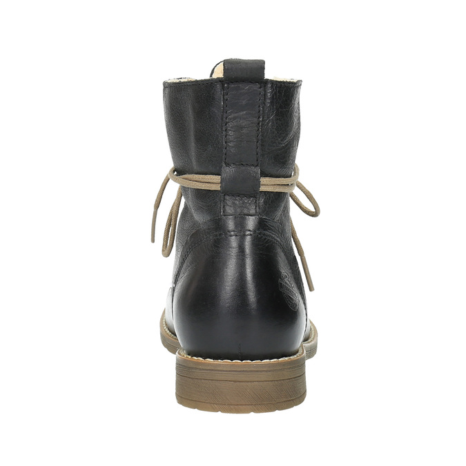 Leather insulated high ankle boots bata, black , 594-6610 - 17