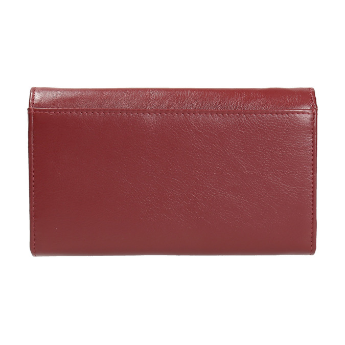 Ladies' leather purse bata, red , 944-5357 - 19