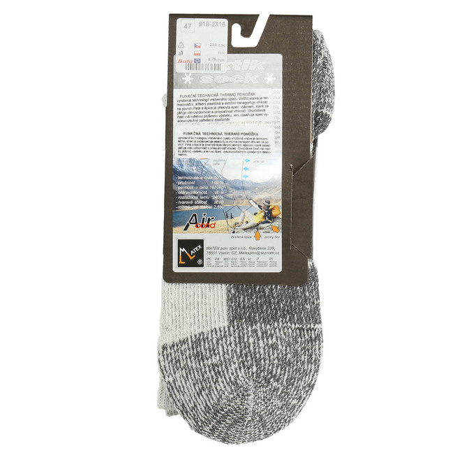 Men's outdoor socks matex, gray , 919-2316 - 15