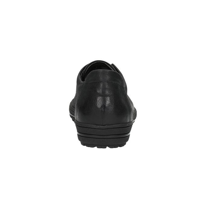 Ladies' leather sneakers bata, black , 524-6349 - 17