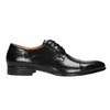 Leather shoes in a Derby style bata, black , 824-6652 - 15
