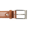 Men's brown leather belt, brown , 954-3153 - 26