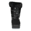 Black snow boots with fur weinbrenner, black , 591-6617 - 17