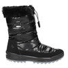 Black snow boots with fur weinbrenner, black , 591-6617 - 15