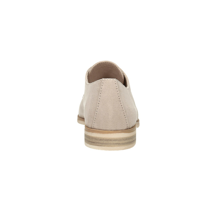 Ladies' Derby shoes bata, beige , 529-8632 - 17