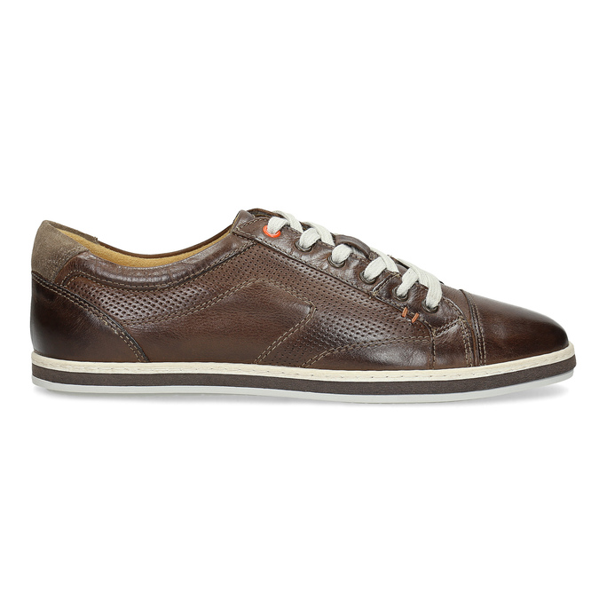 Men's leather sneakers bata, brown , 846-4617 - 19