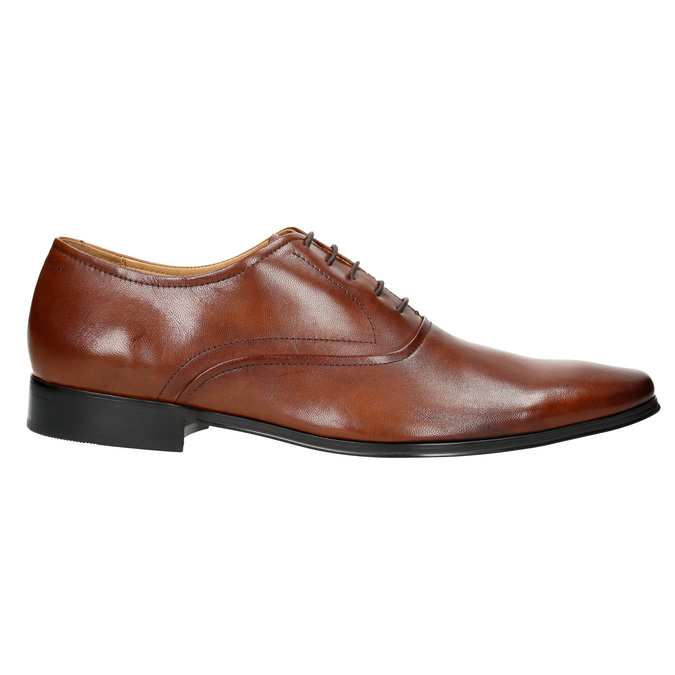 Brown leather Oxford shoes bata, brown , 826-3819 - 15