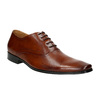 Brown leather Oxford shoes bata, brown , 826-3819 - 13