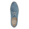 Blue leather shoes bata, blue , 523-9600 - 19