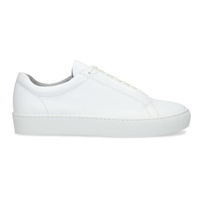 White leather sneakers vagabond, white , 624-1019 - 19