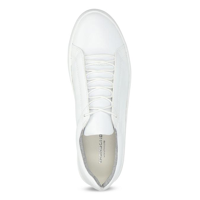 White leather sneakers vagabond, white , 624-1019 - 17