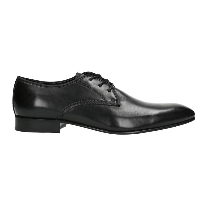 Men's 100% leather  shoes bata, black , 824-6836 - 15