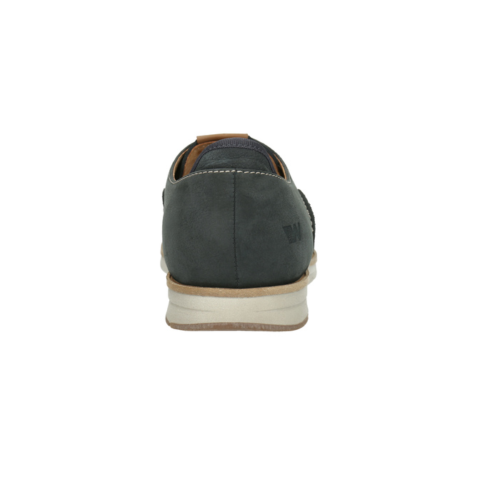 Casual leather shoes weinbrenner, blue , 846-9630 - 17