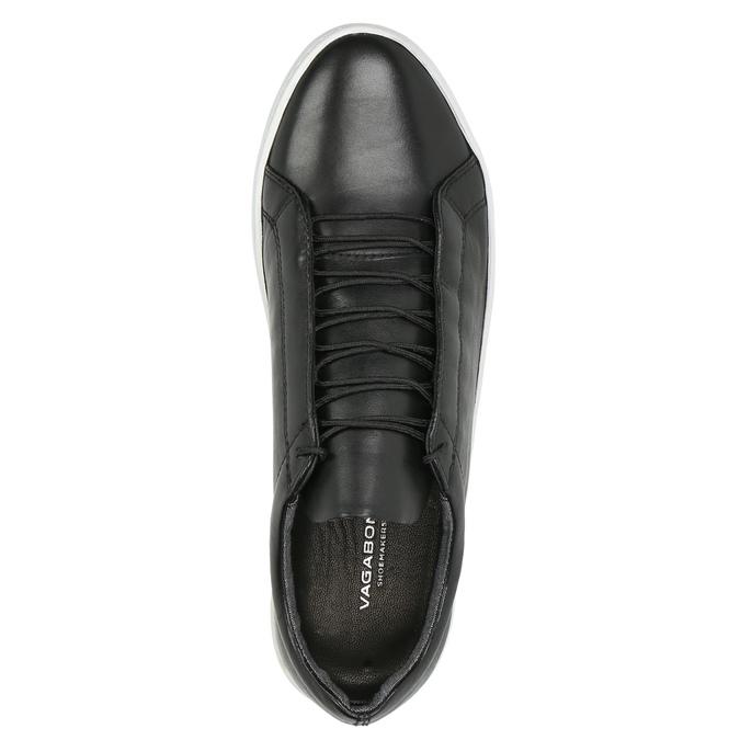 Ladies' leather tennis shoes vagabond, black , 624-6019 - 19