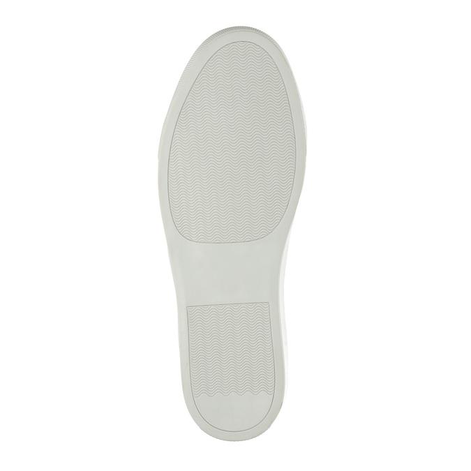 Men's leather sneakers bata, brown , 843-8621 - 26