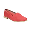 Red leather slip-ons bata, red , 516-5602 - 13
