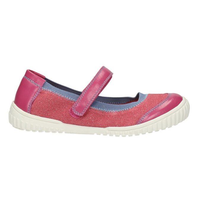 Children´s ballerinas with an instep strap mini-b, pink , 329-5605 - 15