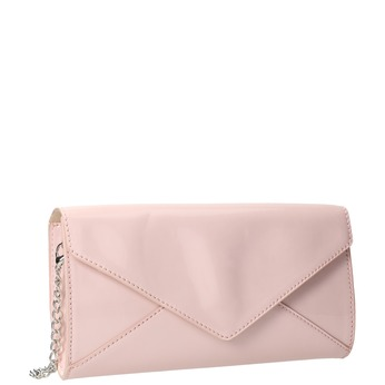 Pink envelope handbag for ladies bata, pink , 961-5685 - 13