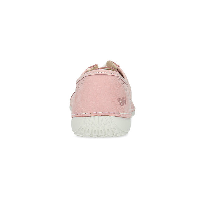 Pink leather low shoes weinbrenner, pink , 546-5602 - 15