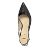 Black leather pumps with open heel insolia, black , 724-6634 - 19