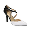 Leather pumps with straps across the instep insolia, white , 728-1641 - 13