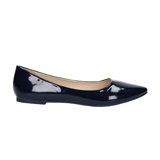 Ladies' patent leather ballerinas bata, blue , 521-2602 - 15