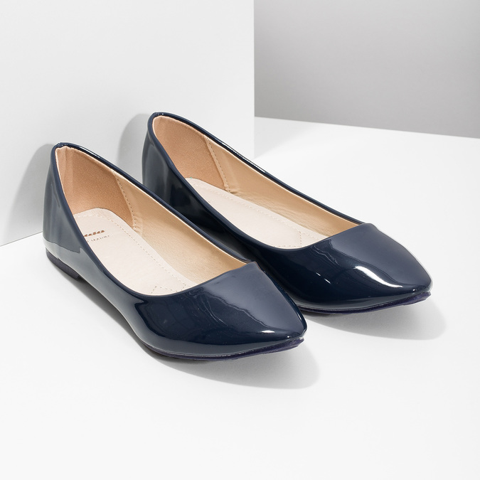 Ladies' patent leather ballerinas bata, 521-2602 - 26